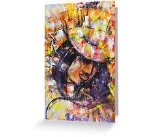 Artista Gitano Greeting Card