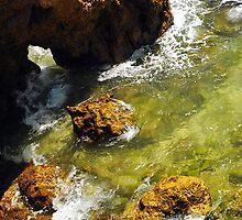 Rocks and Sea Swell at Ponta da Piedade by Steve Woods
