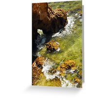 Rocks and Sea Swell at Ponta da Piedade Greeting Card