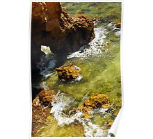 Rocks and Sea Swell at Ponta da Piedade Poster