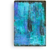 Blue-black monoprinting Canvas Print