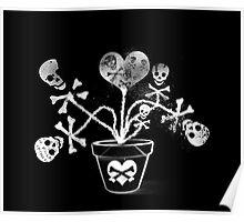 Skulls In A Vase  Poster