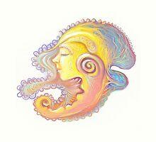 Portrait  of girl - snail by Iuliia Dumnova