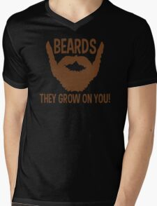 Beards They Grow On You Funny TShirt Epic T-shirt Humor Tees Cool Tee Mens V-Neck T-Shirt