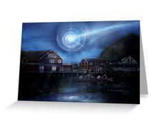 Norway UFO Vortex Greeting Card