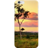 Sunset on the plain HDR iPhone Case/Skin