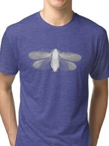 White Moth Tri-blend T-Shirt