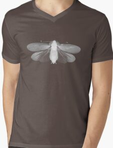 White Moth Mens V-Neck T-Shirt
