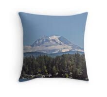 Life under the mountain Throw Pillow