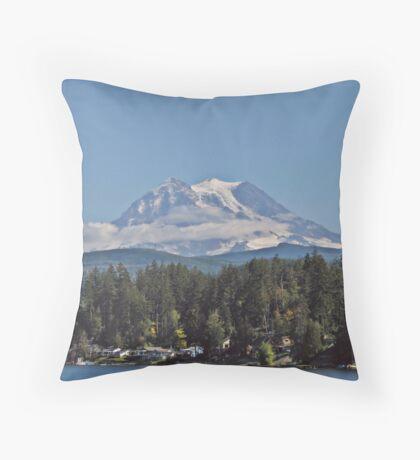 Life under the mountain Throw Pillow