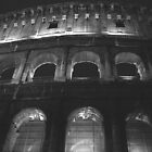 The arcs of the Colosseum at night by Tanja Katharina Klesse