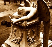 Sepia Angel Gravestone by SylviaS