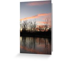 Freezing The Sunset Greeting Card