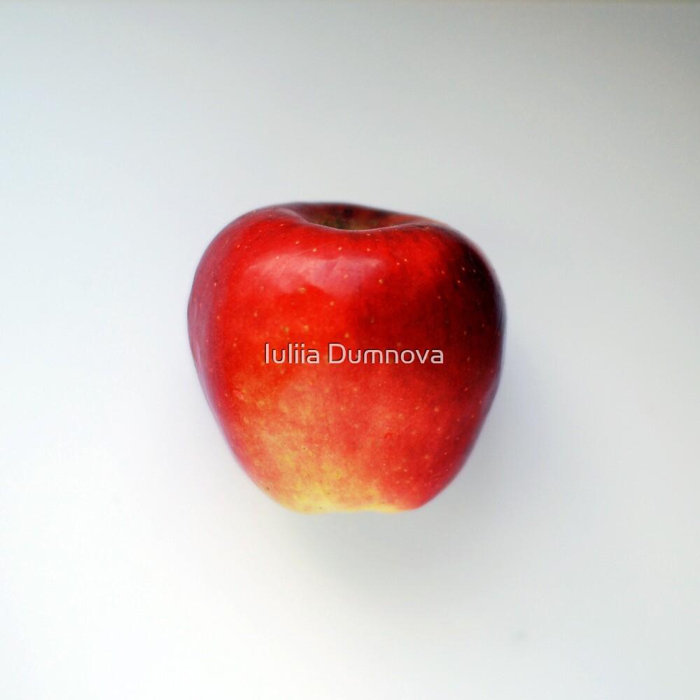 taste red apple by Iuliia Dumnova