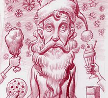 The Skinny Santa (well before the feast) by Mike Cressy