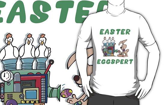"Happy Easter ""Easter Eggspert"" by HolidayT-Shirts"