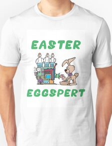 "Happy Easter ""Easter Eggspert"" Unisex T-Shirt"