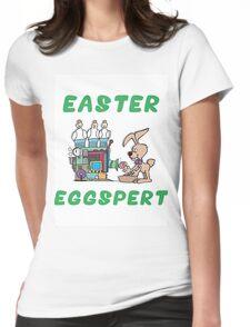 """Happy Easter """"Easter Eggspert"""" Womens Fitted T-Shirt"""
