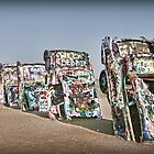 Cadillac Ranch in Amarillo, TX by Patricia Montgomery