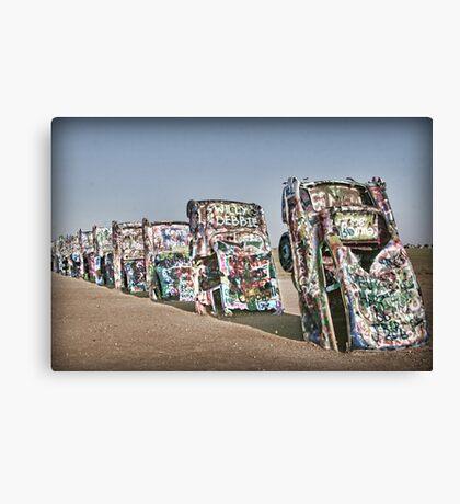 Cadillac Ranch in Amarillo, TX Canvas Print