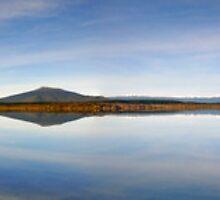Lake Otamangakau, Panoramic by Michael Treloar