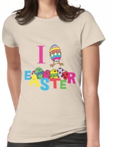 """Easter """"I Love Easter"""" Womens Fitted T-Shirt"""