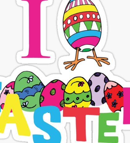 """Easter """"I Love Easter"""" Sticker"""