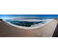 A Panorama of the Lake Michigan Overlook Photographic Print