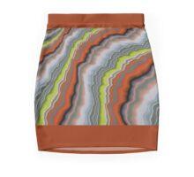 FRESH YELLOW -W-CLOUDS £ WAVES PATTERN  Mini Skirt