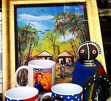 Display in Congolese Store Window by SylviaS