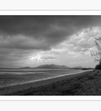 Stormy Beach HDR Sticker
