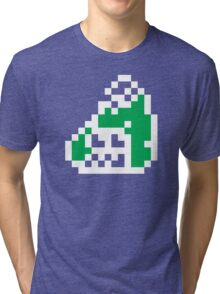 Splatoon Firefin Black 8-Bit FishFry Tri-blend T-Shirt