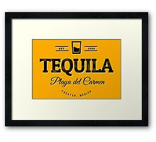 Tequila Vintage Typography Badge Framed Print