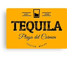 Tequila Vintage Typography Badge Canvas Print