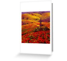 Tuscany Poppy Hills Greeting Card