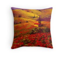 Tuscany Poppy Hills Throw Pillow