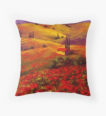 Tuscany Poppy Hills Throw Pillow