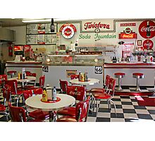 Twisters Soda Fountain Photographic Print