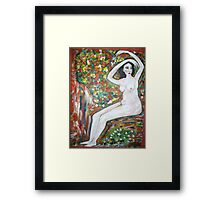 Nude on a rock Framed Print