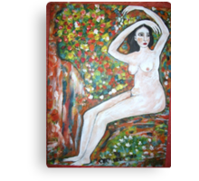 Nude on a rock Canvas Print