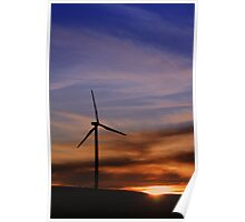 Renewable Sunset Poster