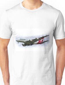 Qantas Airbus A380 Art Unisex T-Shirt