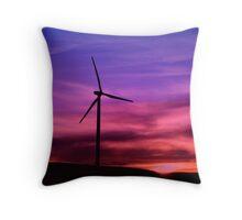 Sunset Windmill Throw Pillow