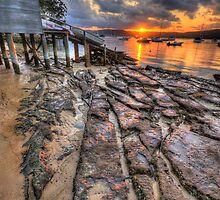 Sunset On The Rocks - Paradise Beach,Sydney - The HDR Experience by Philip Johnson
