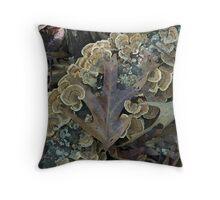 Fabulous Fall Fungus Throw Pillow