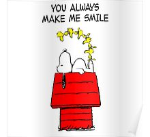 Snoopy Smiling Poster