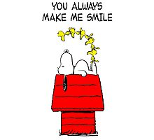 Snoopy Smiling Photographic Print