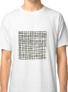 Black and white grid watercolor Classic T-Shirt