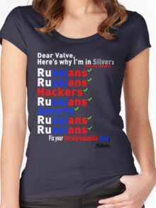 Why Im In Silver (The Real Reasons) Women's Fitted Scoop T-Shirt
