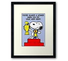 Winner Snoopy Framed Print